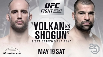 UFC Fight Night 129 Chili: Volkan vs Shogun