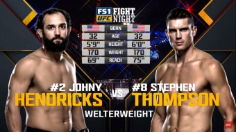 UFC Nashville Free Fight: Stephen Thompson vs  Johny Hendricks