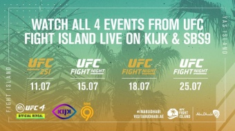 SBS9 place to be voor UFC Fight Island